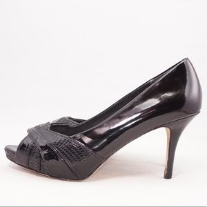Coach and Four Black Judith Heels, Size 6
